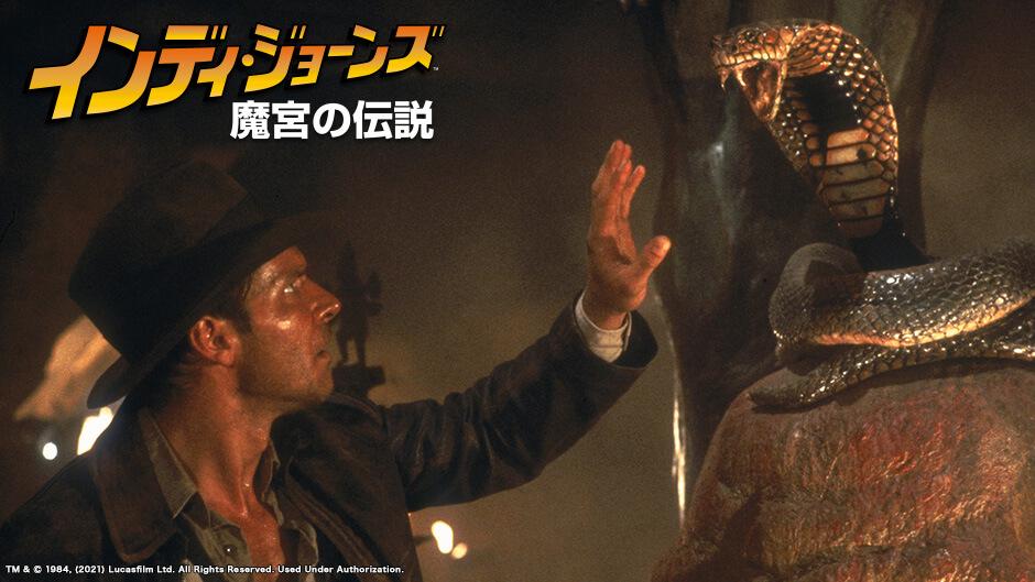 『インディ・ジョーンズ/魔宮の伝説』のワンシーン